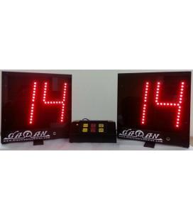 Marcador Electrónico Posesion 24-14 Segundos