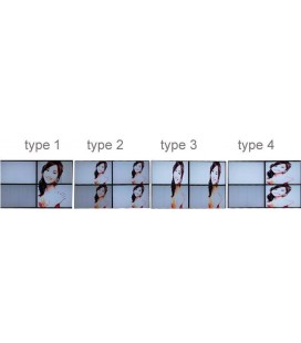 videowall matriz de vídeo de 4 pantallas