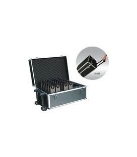 Maleta de carga para 24 receptores del sistema de traducción simultanea infrarrojos de 11 canales