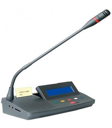 Microfono de presidente del Sistema de conferencias y Debates incorpora sistema de votacion electronica    838D
